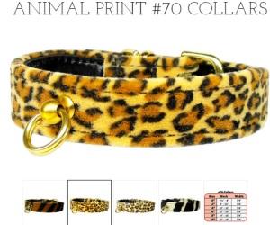 animal print collars