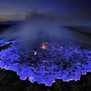 Blue Volcano in Ethiopia