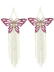 Butterfly Fringe Earrings .95