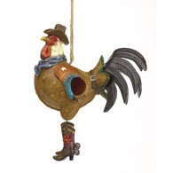 Cocky Rooster Birdhouse