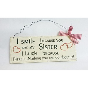 SISTERS WOODEN SIGN