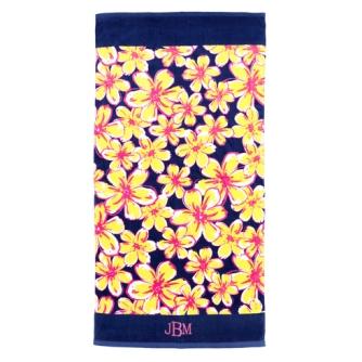 Beach Floral Beach Towel
