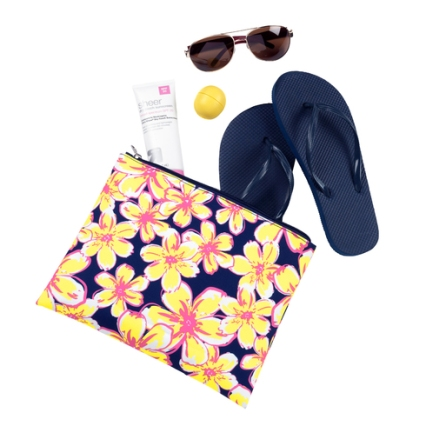 Beach Floral Zip pouch