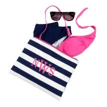 Prep Stripe Cosmetic Bag