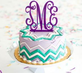 CAKE TOPPER PURPLE